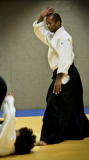 Mare Seye, responsable technique et principal enseignant de l'Aïkido Club de Sceaux