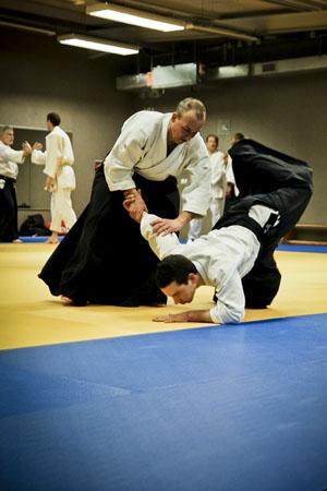 Un cours d'aïkido à l'Aïkido Club de Sceaux